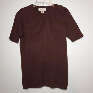 Worthington Brown Short Sleeve Top